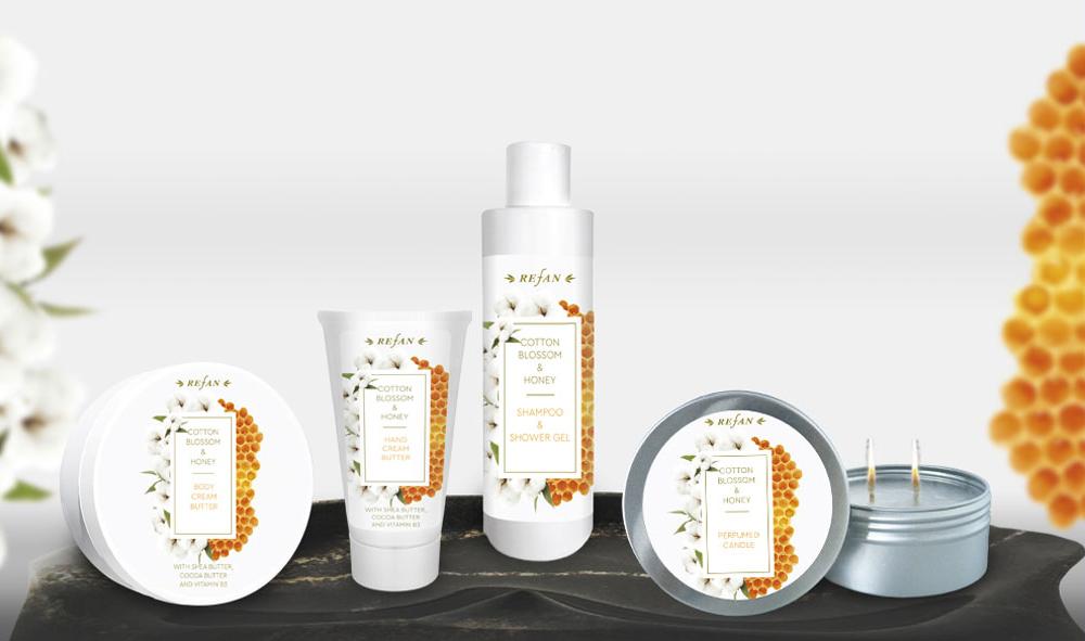 Körperpflegeserie Baumwollblueten & Honig