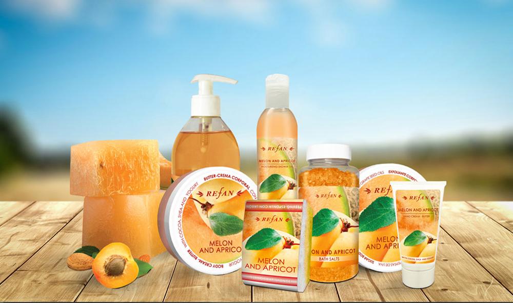 Körperpflegeserie Melonen & Aprikosen