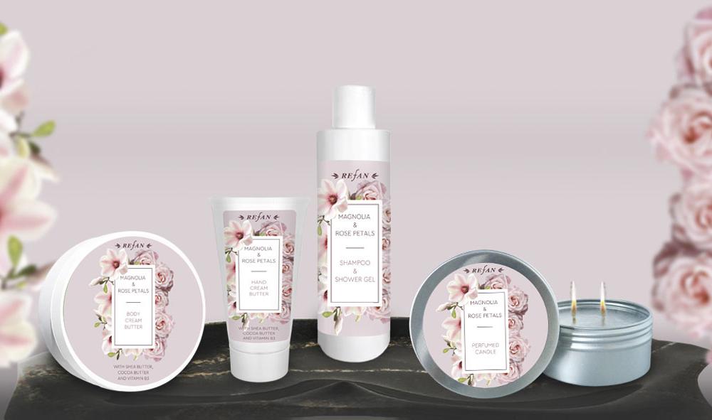 Körperpflegeserie Magnolie & Rosenblaetter