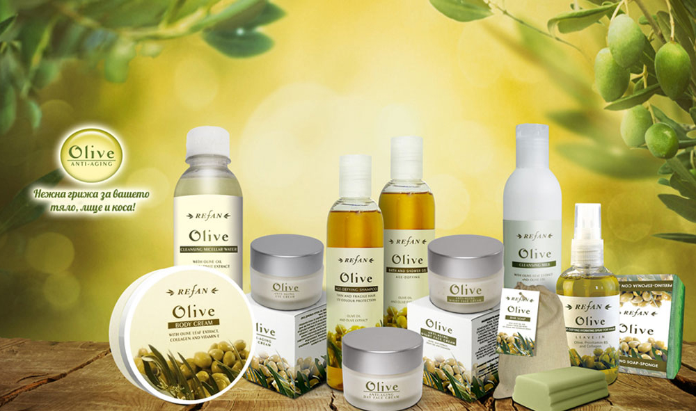 Kosmetikserie Oliven
