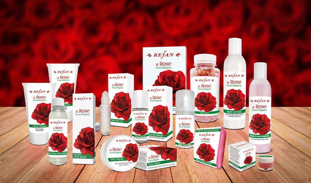 Kosmetikserie Rose von Bulgarien