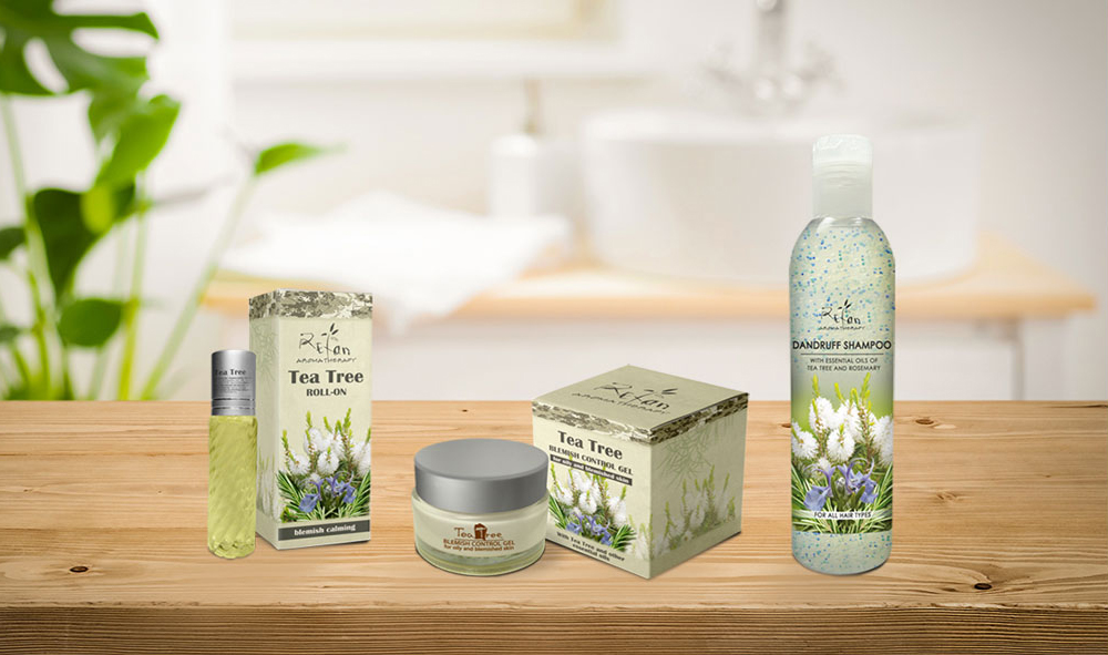Kosmetikserie Teebaumöl